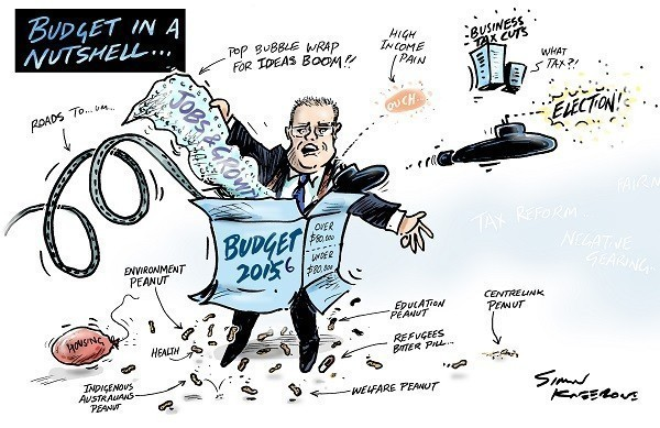 Scott Morrison delivering Budget 2016