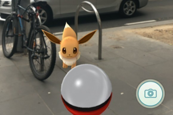 Eevee on the streets of Melbourne