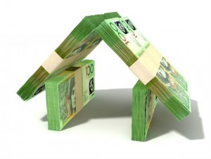 Money in the shape of a house RS
