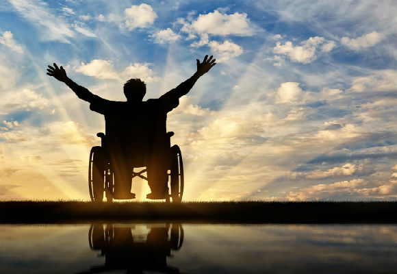 Wheelchair sunset image RS