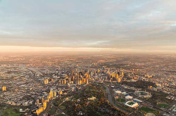 Aerial  View Melbourne
