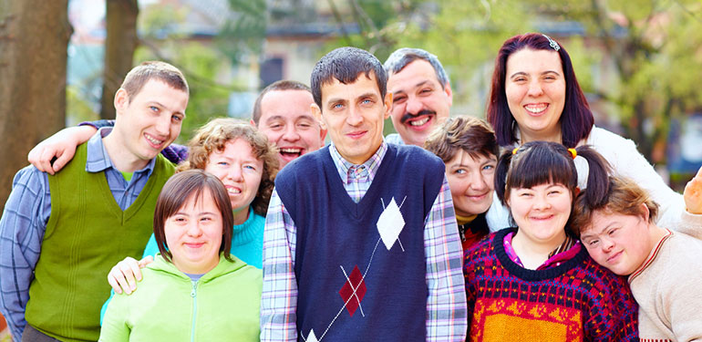 Group of people with disabilities