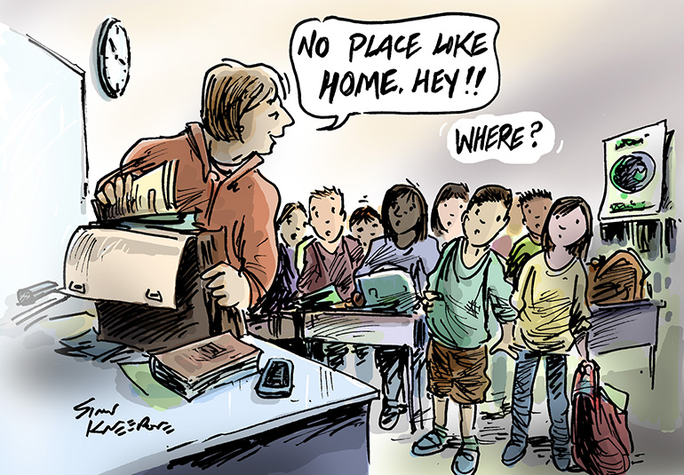 homeless children cartoon