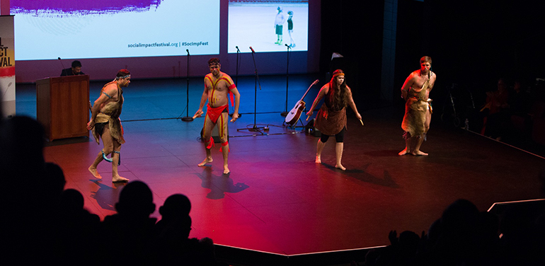 Middar dancers on stage at the Social Impact Festival