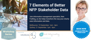 7 Elements of Better NFP Stakeholder Data (Melbourne)