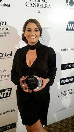 Danielle Dal Cortivo with her award