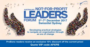 Australia's Not-for-Profit Leaders Forum