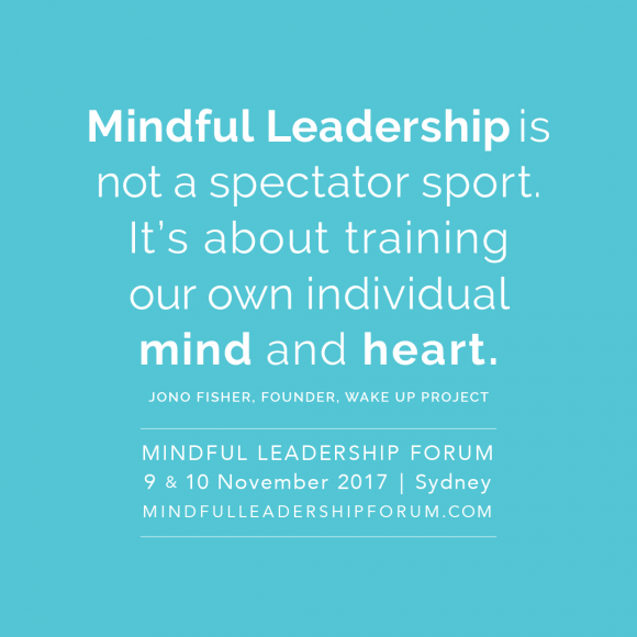 Mindful leadership graphic