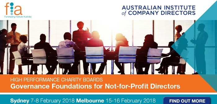 Governance Foundations for Not-For-Profit Directors Program