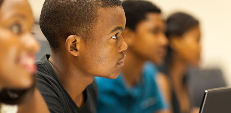 African Australian students in the classroom