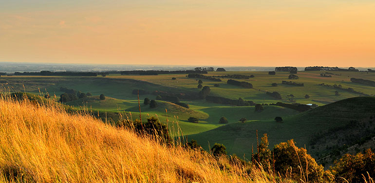 Victorian country landscape