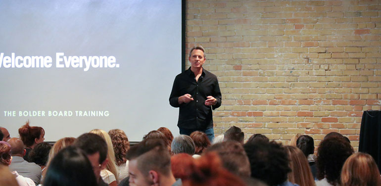 Dan Pallotta at Bolder Board training