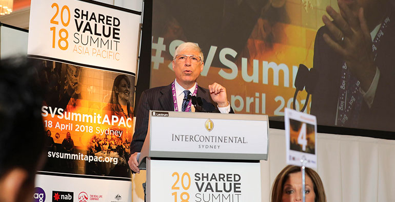 Mark Kramer speaking at the 2018 Shared Value Summit Asia Pacific