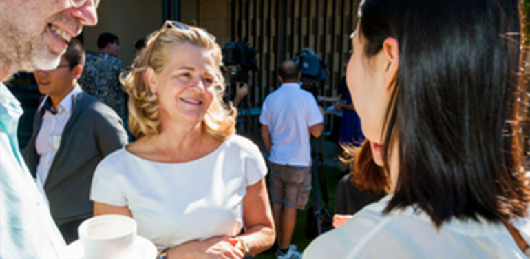 Nicola Forrest at the opening of the Forrest Hall research and accommodation facility in Perth. Image credit: UWA