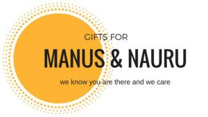 Material aid project volunteers for Gifts for Manus and Nauru Inc