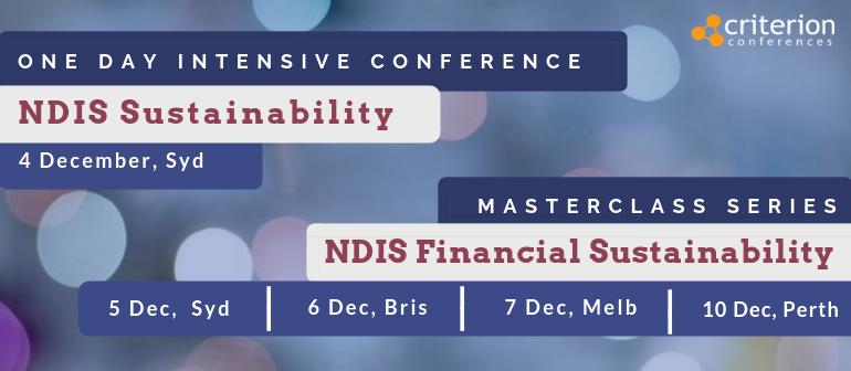 NDIS Sustainability Intensive Conference & Masterclass