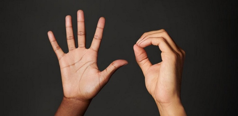 Hands showing 5 and 0 to mark Macquarie's 50th anniversary