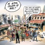 Simon Kneebone Philanthropy Warning cartoon