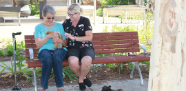Therapy Chickens Bring Joy to Aged Care Home