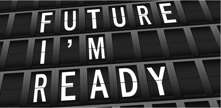 Future I'm Ready, white text on black background
