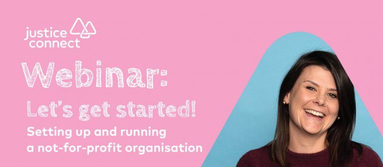Setting Up & Running a Not-for-profit Organisation Webinar
