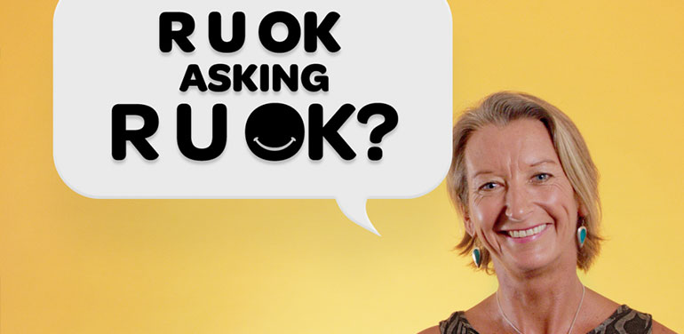 "Layne Beachley asking ""R U OK asking R U OK?"""
