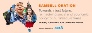 Sambell Oration & Dinner | 21 November 2019