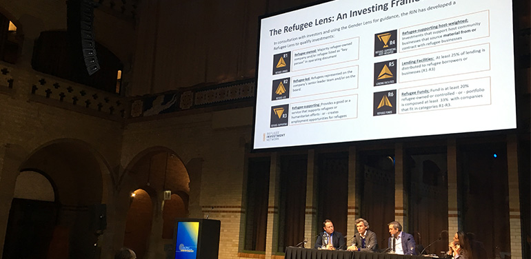 Panellists at the GIIN Investor Forum discuss investing with a refugee lens