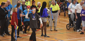 Young and old compete for sporting glory