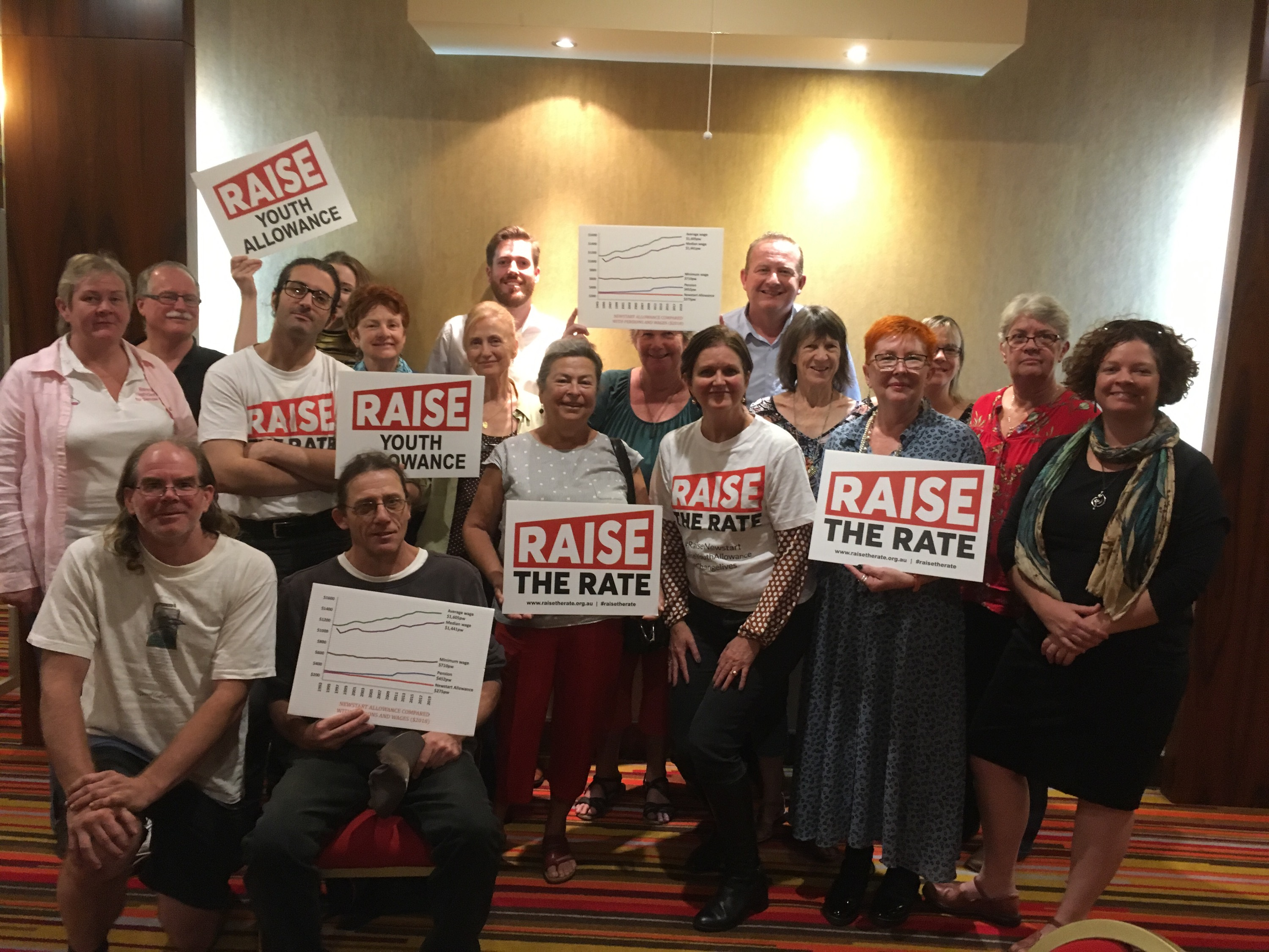 Raise the Rate campaigners