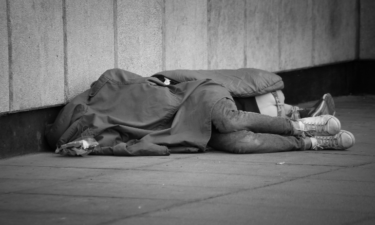 two rough sleepers