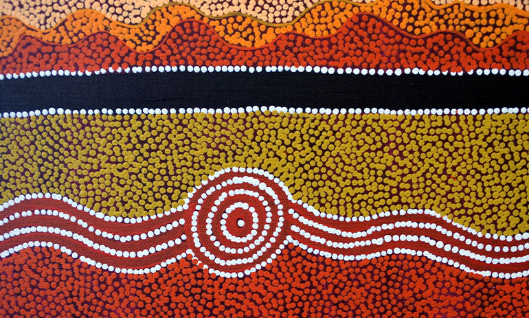 Indigenous Australian art - dot painting